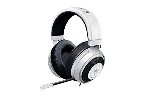 Razer Kraken Pro V2: Lightweight Aluminum Headband - Retractable Mic - In-Line Remote - Gaming Headset Works With PC, PS4 & Mobile Devices - Bianco