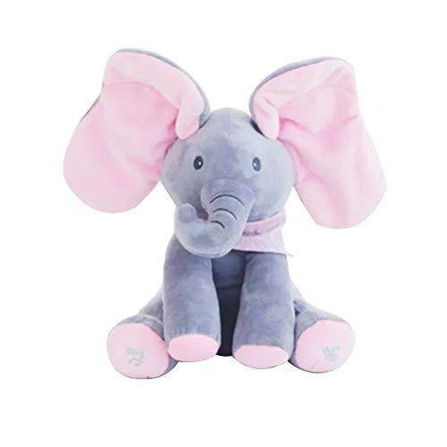 YeahiBaby Elefante electrónico Juguetes Musicales Peluche Animales de Peluche Juguete Interactivo Elefante...