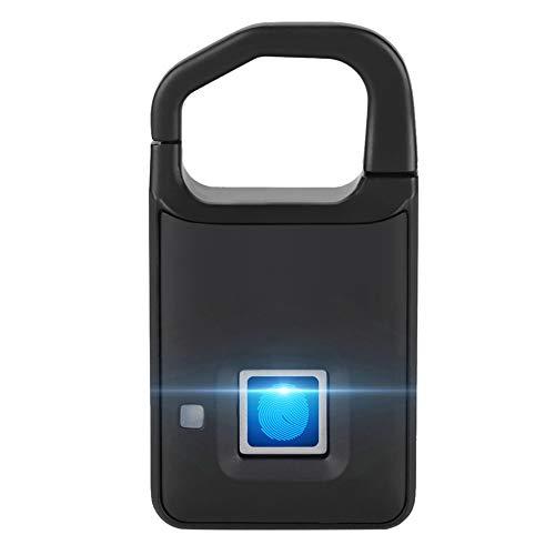 Cerradura inteligente con huella digital, Candado antirrobo sin llave de seguridad para maletas, Puerta...