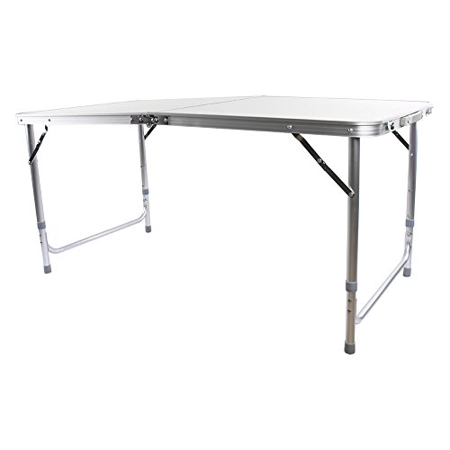 31TkIqkCobL. SS500  - 4ft Folding Camping Table, Portable Aluminium Foldable Camping Picnic Table Party BBQ Table, Folds in Half with Carry…