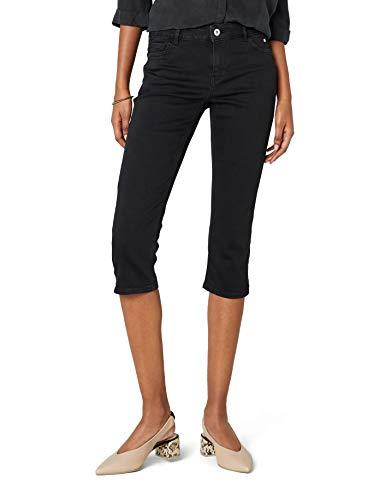 edc by ESPRIT Damen Slim Jeans 038CC1B009, Schwarz (Black Rinse 910), 28