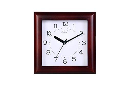 Safal Wooden Wall Clock (20.32cm x 20.32cm, Style No SQ 4001)