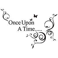 *Once Upon A Time* Englische Sprüche Wandsticker Wandbild Wandtattoo  Wandaufkleber Wandbilder Aufkleber Deko.