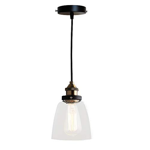 'bayc heer vintage lampada in vetro lampada haengel con vetro ombrelloni diametro 5.7altezza regolabile einfl ammig