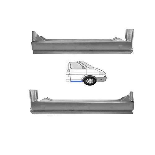 Preisvergleich Produktbild SET! Schweller Außenschweller Einstiegrepraturblech unter der Tür vorne seitlich links rechts Einstieg Reparatur Blech passend für T4 Transporter Bus Kasten Pritsche