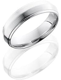 Cobalt Chrome, Knife Edge Satin Polished Wedding Band (sz H to Z1)
