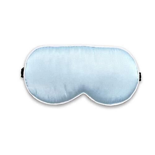 XIMIAOMIAO Augenmaske zum Schlafen Seidenaugenmaske doppelseitig Seidenband Gummiband einstellbar Ohrstöpsel, Schichtarbeit, Nickerchen, Nacht Augenbinde Eyeshade für Männer und Frauen (Farbe : Blau) -