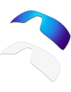HKUCO Plus Replacement Lenses For Oakley Oil Rig Sunglasses Blue/Transparent Polarized