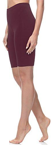 Merry Style Damen Kurze Leggings MS10-145 (Weinrot, S (Herstellergröße: 36)) (Legging Warme)