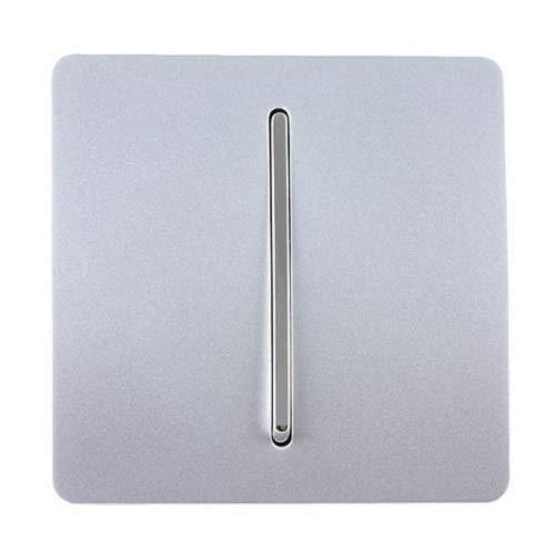 Trendi - Interrupteur Design - 1 bouton - 10 Amp - Argent