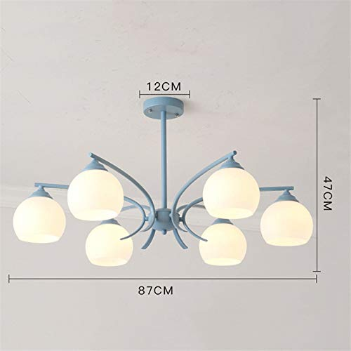 Luces colgantes de vidrio Lámpara colgante LED Luces de la sala Pantalla de acrílico Sala de iluminación de la sala Luminaria Colgante