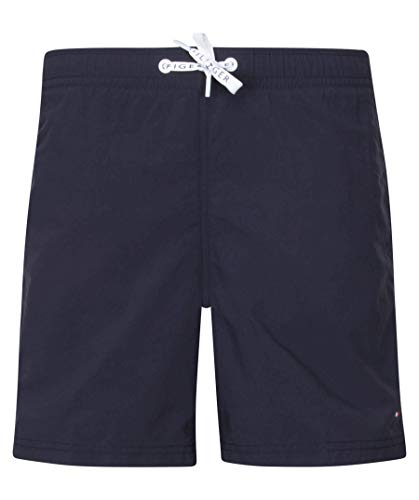 Tommy Hilfiger Boy's Medium Drawstring Swim Shorts, Blue (Navy Blazer 416), 140 (Manufacturer size: 10-12)