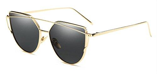 MFFACAI Weiblich Katzenaugen-Design Bunt Polarisiert UV 400 Schutz Reise draussen Metall Sonnenblende, 009