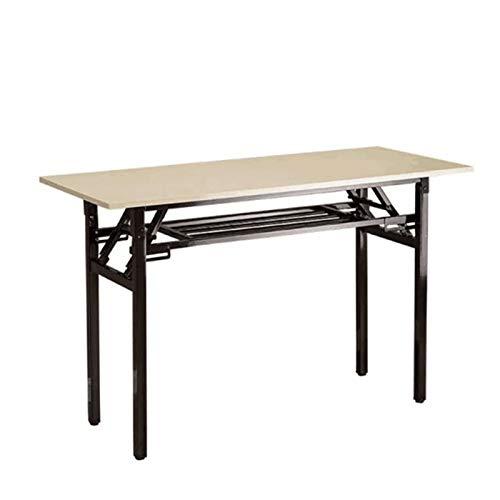 WU LAI Klapptisch 120x40 cm | Langer Tisch | Hause Konferenztisch | Für Terrasse Garten Wohnzimmer Draussen,OneColor-80x40x75cm