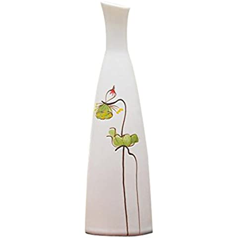 thanly semplice ed elegante vaso di fiori vaso di ceramica cinese tradizionale classico dipinto a mano vaso di porcellana per Home Decor Decorazioni Hotel Desk Cafe ristorante–Idea Regalo per il giorno di Natale - Vintage Ceramica Mold