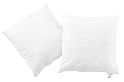 Preisvergleich Produktbild Zollner 2er Set kochfeste Kopfkissen/Stützkissen/Dekokissen, 50x50 cm, Füllgewicht: ca. 330 g, mit Reißverschluss, in weiteren Größen erhältlich, Serie Davos