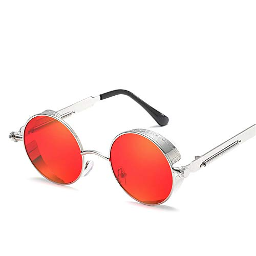 Sonnenbrillen, Neue Sonnenbrillen Mit Rundem Gestell, Federtempel Aus Metall, Farbenfrohe Retro-Sonnenbrillen Für Herren Und Damen (20)