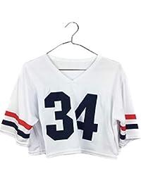 Uissos Camiseta Futbol Americano para Mujer diseño Estampado número 34 Talla ...