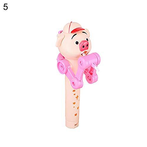 (FeiyanfyQ Lustiger Kinder-Schweine-Roboter Lollipop Spielzeug Halter Dekompressionsentlastung 5#)