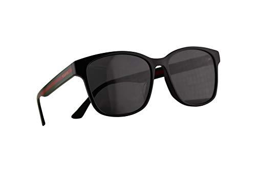 Gucci GG0417SK Sonnenbrille Schwarz Mit Grauen Gläsern 56mm 001 GG0417/SK 0417/SK GG 0417SK