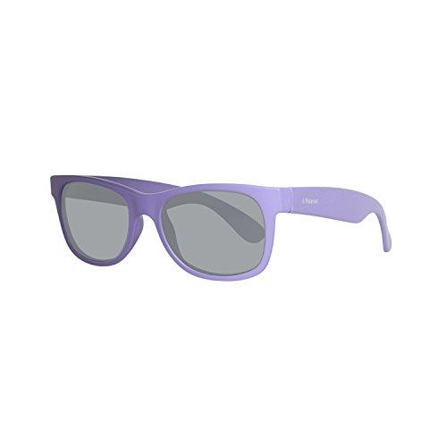 Polaroid p0300 y2 mz9, occhiali da sole bambino, viola (matt dark lilac/grey pz), 43