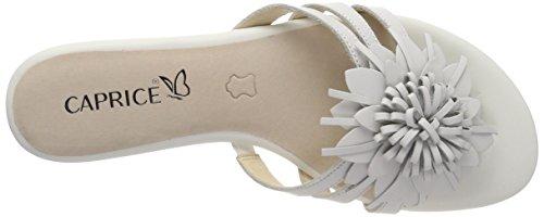 Caprice Damen 27101 Pantoletten Weiß (White Nappa 102)