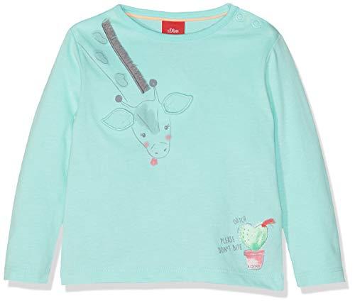 s.Oliver Baby-Mädchen 65.904.31.8634 Langarmshirt, Türkis (Mint 6117), Herstellergröße: 80 -