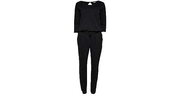 JDY by ONLY Damen Overall JDYSAKI 3 4 Jumpsuit JRS RPT2 lang schwarz ( schwarz, XL)  Amazon.de  Bekleidung 0b3f700736