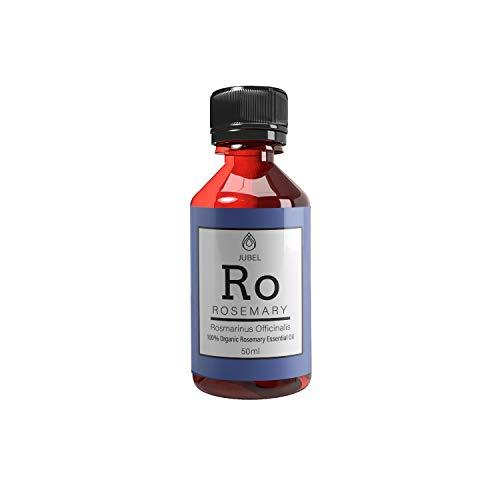Rosmarinöl von Jubel | 50 ml | Massageöl, Aromatherapie | Cellulite Öl, Akne Behandlung | Haaröl, Bio Rosmarinöl Haare | Ätherische Öle, Rosmarinöl Bio | Alternative zu Cellulite Crème -