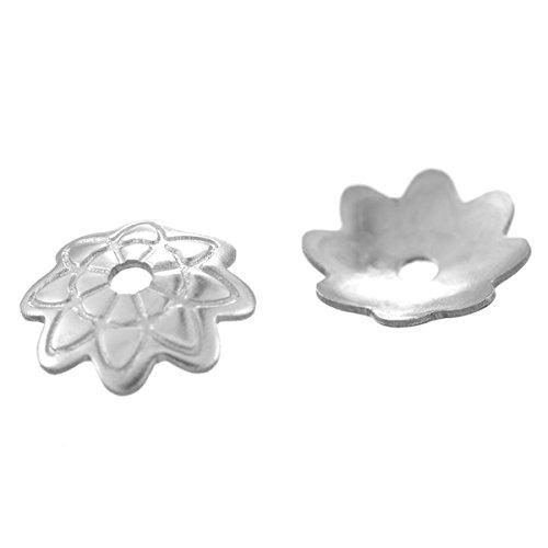 HooAMI -Coupelle Calotte - Acier Inoxydable - coeur 20pcs chinois fleur 20pcs autre petales 50pcs 8 p¨¦tales
