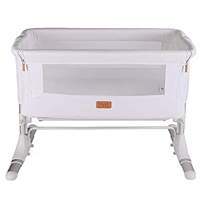 Venture Hush Bedside co Sleeping Crib - Cotton White
