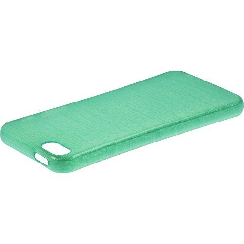 Coque en Silicone pour Apple iPhone SE - brushed rouge - Cover PhoneNatic Cubierta + films de protection vert