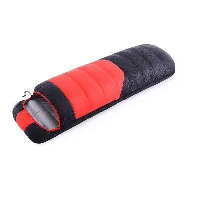 Crossdresser clothing Einfachnaht Ultraleichter Warmer Daunenschlafsack - ideal für Erwachsene und Kinder - hervorragende Campingausrüstung,Red,41 * 22 * 22cm