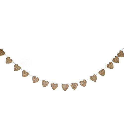 Girlande, 11.5 Feet Wimpelkette mit 15 Wimpeln ideal für rustikale Themen-Hochzeiten oder Abendessen Parteien ()