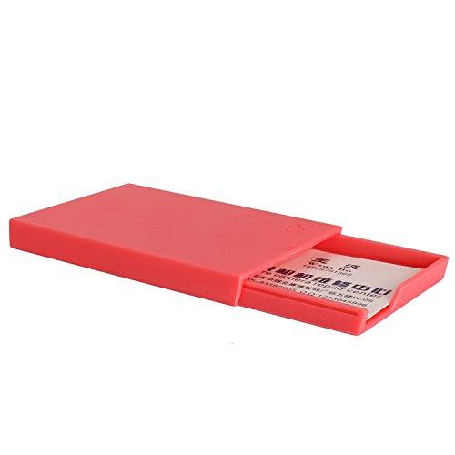 [Mini Foto Karte Kunststoff Tasche] WOODMIN Kreativ Süßigkeiten Tasche für Fujifilm Instax Mini Films/Visitenkarte/ID Karte (Rot Melone)