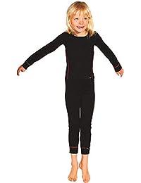 PLEAS Thermo Unterwäsche Set für Kinder - Mädchen Thermo Funktionswäsche Skiunterwäsche Set (Hemd + Hose)