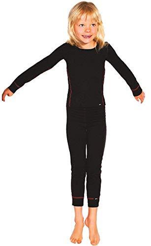 PLEAS Thermo Unterwäsche Set für Kinder - Mädchen Thermo Funktionswäsche Skiunterwäsche Set (Hemd + Hose) (116)