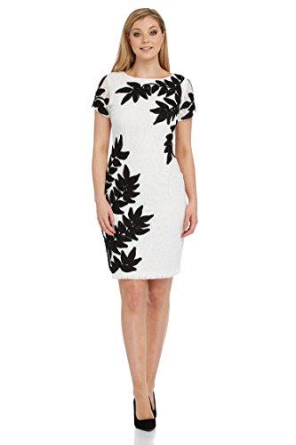 Roman Originals Damen Tapework Blumenmuster Kleid Elfenbein Elfenbein