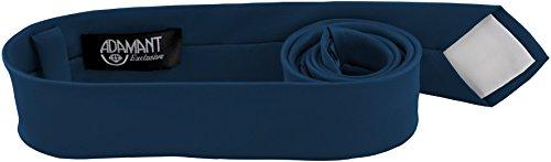 ADAMANT® Petrol Blaue Designer Krawatte 5cm schmal - TOPQUALITÄT - Moderne Petrol Blaue Krawatte / Schlips für Business und Alltag - Petrol / Blau uni