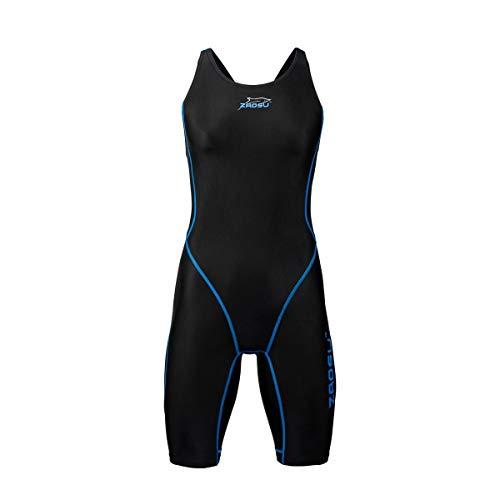 ZAOSU Wettkampf-Schwimmanzug Z-Black – Badeanzug für Mädchen und Damen, Größe:164, Farbe:schwarz/blau - 2