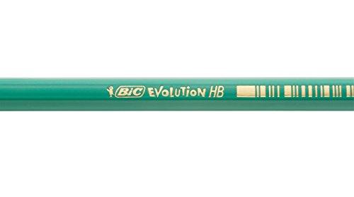 31TlGCkrl L - BIC Evolution HB - Lápiz con mina irrompible, 12 unidades
