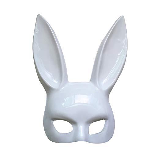 Hase Frau Kostüm - Homeit Halloween Cosplay Maskerade Kaninchen hase Maske mit Langen Ohren für Frauen mädchen Halloween Party kostüm Ostern Karneval, schwarz weiße Farbe