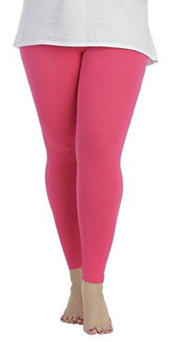 BeLady Damen Leggings Knöchellang aus Baumwolle Blickdichte Leggins Viele Farben (Schwarz, 7XL - 54)