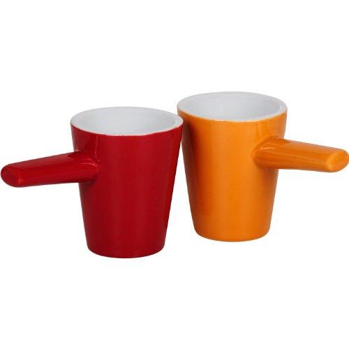 Espresso Tassen rot-orange - Orangen-espresso-tasse