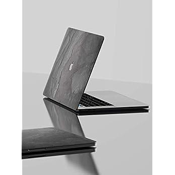 ROXXLYN Echt Schiefer Slate Skin – Cover aus echtem Schiefer für das MacBook Pro 15 (2016-2019)-Black Impact