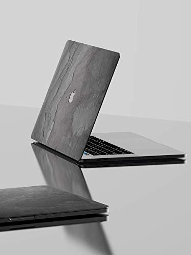 ROXXLYN Echt Schiefer Slate Skin - Cover aus echtem Schiefer für das MacBook Pro 15 (2016-2019)-Black Impact