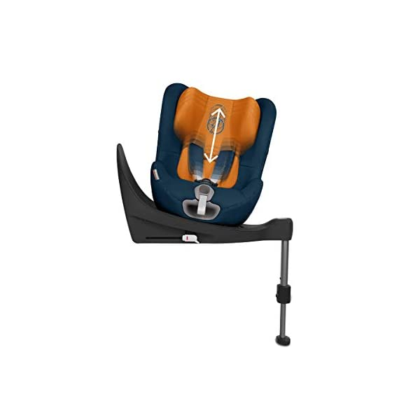 CYBEX Gold Sirona S i-Size Car Seat with 360° Swivel Mechanism and ISOFIX, From Birth to approx. 4 Years, Up to Max. 105 cm Height, Indigo Blue Cybex  5