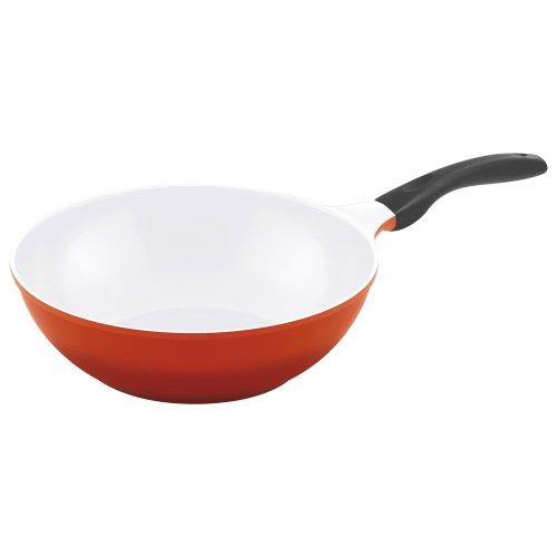 Steuber Culinario 051571 Wokpfanne ø 30 cm mit Induktionsboden, rot/weiß