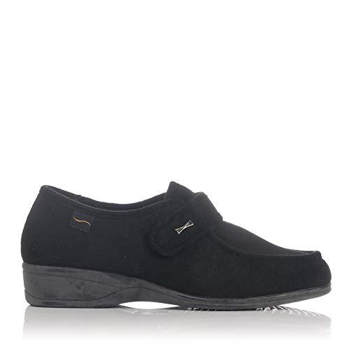 Doctor Cutillas 771 - Zapato Velcro Licra Negro mujer, color negro, talla 37