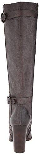 Frye Parker Tall Damen Rund Leder Mode-Knie hoch Stiefel Charcoal